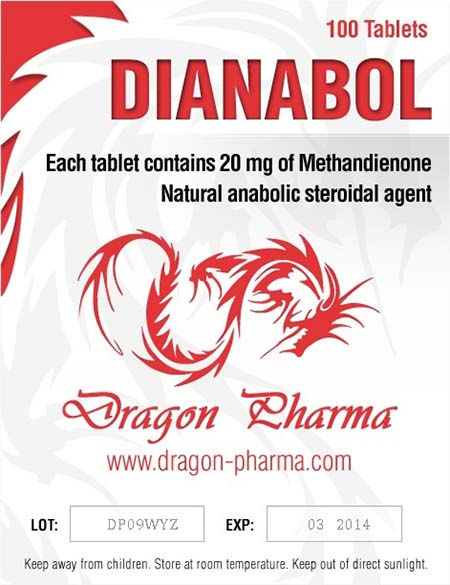 Dianabol 20 Dragon Pharma 20mg (100 pills)